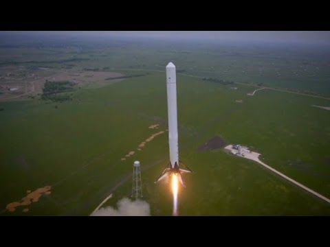 flight - SpaceX's Falcon 9 Reusable (F9R) rocket launched in McGregor, Texas. It reached about 820 feet high.