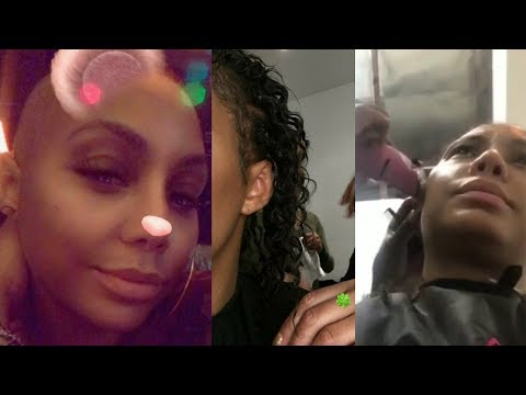 Tamar Braxton NO HAIR! The BIG SHAVE | HILARIOUS response from her 4yr Old Son Logan! (видео)