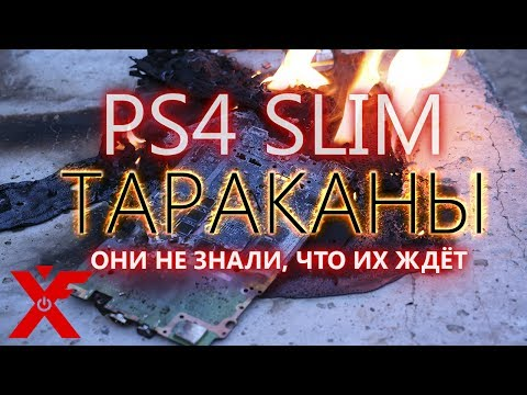 PLAYSTATION 4 SLIM ТАРАКАНЫ - они не знали, что их ждёт