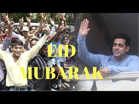 Salman Khan Meet Waves Hand To Fan To Wish Eid Mubarak
