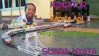 Miniatur Kereta Api Argo nya Densha Ardana bersuara nyata (with sound effect)