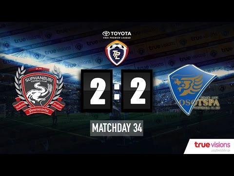 Highlight TPL 2015 - Suphanburi FC 2-2 Osotspa M-150