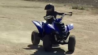 7. El Rey ripped it up on his 2008 Yamaha  raptor 50