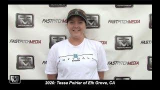 2020 Tessa Poirier Pitcher and First Base Softball Skills Video