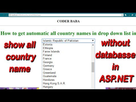 HOW TO GET ALL COUNTRY NAME IN DROPDOWNLIST CONTROL WITHOUT  USING DATABASE IN ASP.NET C#