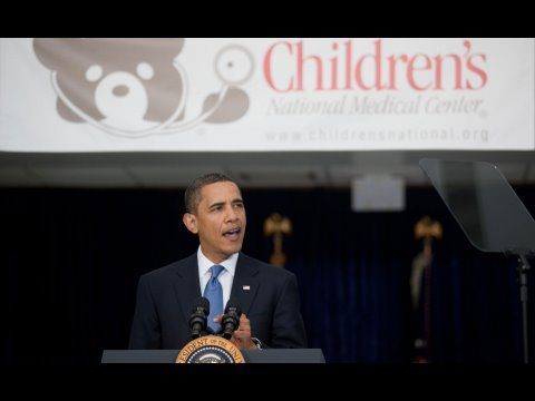 President Obama Discusses Health Care at Childrens National Medical Center