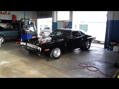 Dodge Challenger produces serious power on the dyno