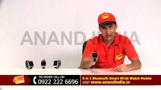 Anand India  City pictures : 5 -in -1 Bluetooth Smart Wrist Watch Mobile