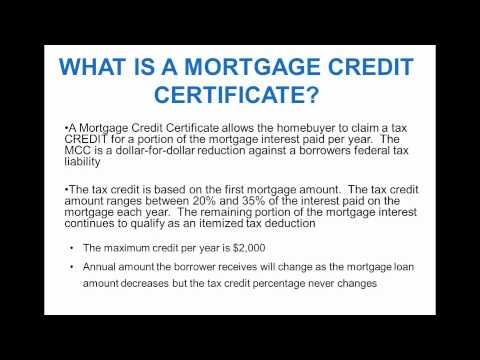 Mortgage Credit Certificate - South Bend Indiana