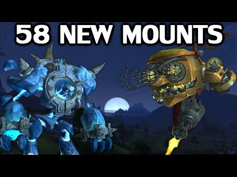 The 58 New Mounts in Battle For Azeroth (видео)