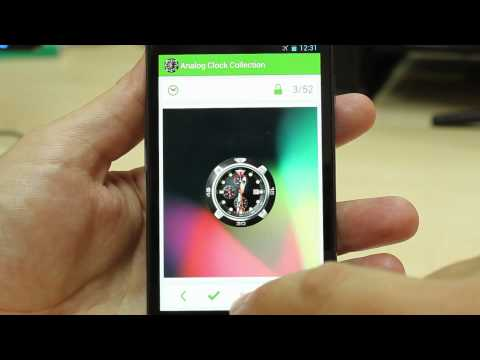 Video of Analog Clock Wallpaper/Widget