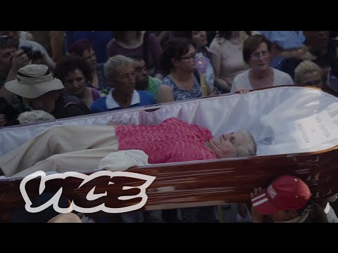Carried In A Coffin At Spain's Near Death Festival