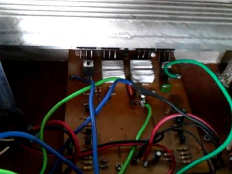 My Home made  Stereo Tone Control +  500 watts mono type power amplifier rush assemble