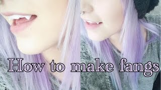 Video How to make your own fangs with friendly plastic tutorial | Krispuuh MP3, 3GP, MP4, WEBM, AVI, FLV Oktober 2018