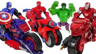 Video Marvel Avnegers Mashers Iron Man, Spider-Man transforming motocycle with Hulk! Go! #DuDuPopTOY MP3, 3GP, MP4, WEBM, AVI, FLV Mei 2019