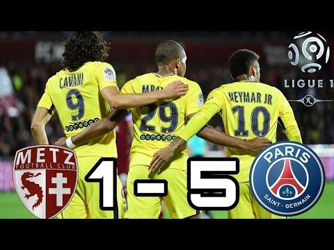 Metz vs PSG 1-5   All Goals & Highlights 08/09/2017   English Commentator