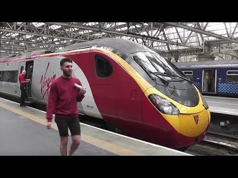 Full Train Journey: Virgin Trains Glasgow Central - Birmingham New Street Virgin Pendolino
