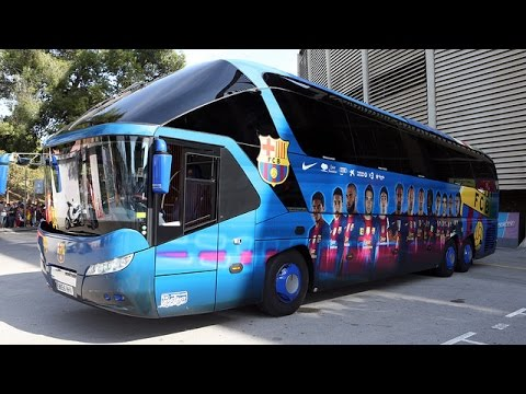 Bus - This is Barça's bus, the one used by Messi, Neymar, Iniesta... to travel into the different stadiums. Discover Messi's seat, and all the tools of the best bus amongst all the teams.