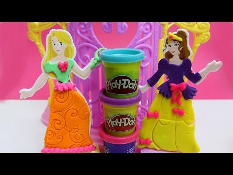 design - Play Doh Design a Dress Boutique Playset Disney Belle Rapunzel Prettiest Princess Playdough http://www.youtube.com/user/UnboxingSurpriseEgg Playdough, Play-Doh, Clay, Plasticine, Plastilina,...