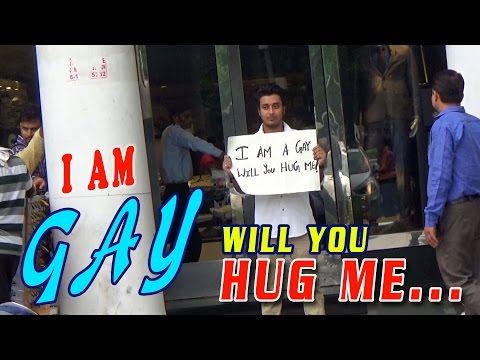 "Social Experiment: ""I Am A Gay - Will You Hug Me"" 
