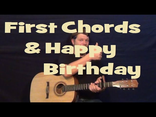 how to play happy birthday on guitar for beginners