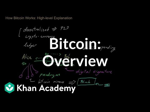 overview - An introduction to the mechanics of bitcoins and an overview of how transactions take place. Video by Zulfikar Ramzan. Zulfikar Ramzan is a world-leading exp...