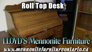Mennonite Rolltop Desk