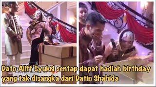 Dato Aliff Syukri sentap dapat hadiah birthday yang tak disangka dari Datin Shahida