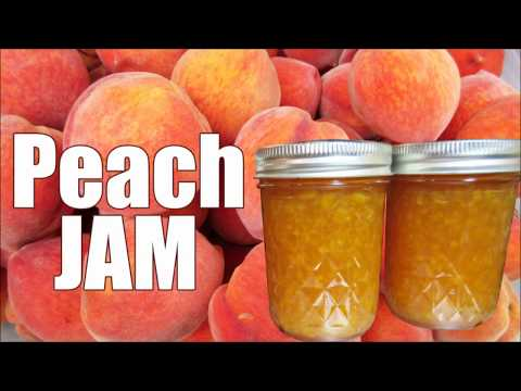 Peach Jam Jelly - Canning Peaches - Fruits Preserve Fruit Preserves - Sure Jell Gel - Homeycircle