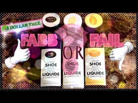 "Dollar Tree Product Review: FABB or FAIL?! (""Premium Liquid Shoe Polish"")"