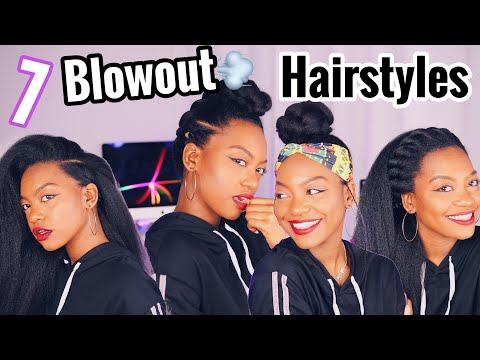 Curly hairstyles - 7 Adult Hairstyles on Natural Hair Blowout
