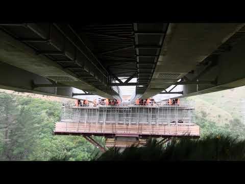 Bridge 20 over Cannons Creek phase three launch – June 2019