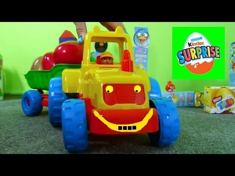 Toy Trucks for Kids - Counting Game with SURPRISE EGGS & Kids Toys Educational Videos for Children