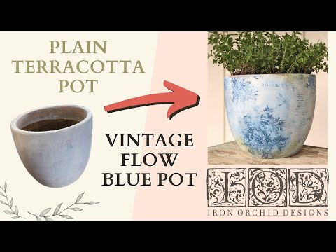 IOD DIY Flow Blue Pot