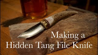Video Making a Hidden Tang File Knife with Antler Handle MP3, 3GP, MP4, WEBM, AVI, FLV Juni 2019