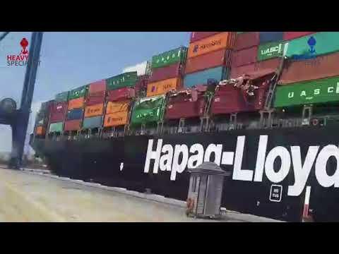 Konttilaiva törmää toiseen laivaan satamassa – Kontit saavat runtua!