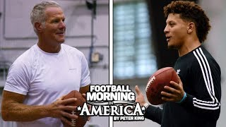 Patrick Mahomes and Brett Favre have a catch   NFL   NBC Sports