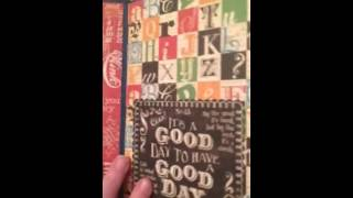 This is my very first attempt at a mini pocket album. I used the Graphic 45 Typography paper pack and did a really basic book - - hey, it's my first one! I r...