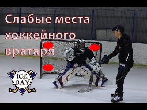 Куда бросать хоккейному вратарю Слабые места - DomaVideo.Ru
