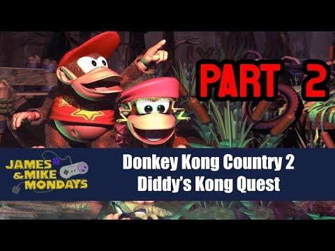 Donkey Kong Country 2 Part 2 - James & Mike Mondays (видео)