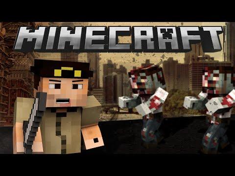 If Minecraft was like THE WALKING DEAD (Minecraft Machinima)