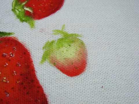 Pintura em tecido - Como pintar morango passo a passo