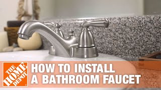 How to Install or Replace a Bathroom Sink Faucet | The Home Depot