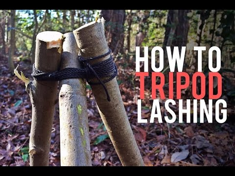 How to Tie a Tripod Lashing