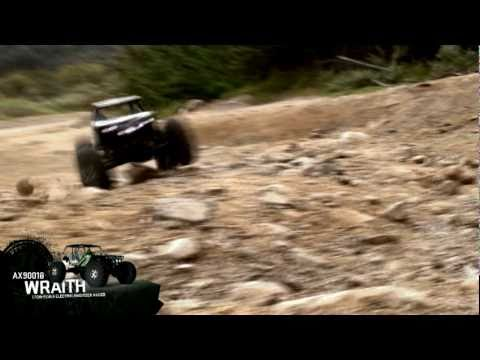 axialvideos - This is the Axial Wraith™ 1/10 Scale Electric 4WD Rock Racer, part #AX90018. The Wraith features a 2.4GHz radio system, AR60 OCP-Axles™ (Off Center Pumpkin d...