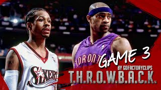 Vince Carter vs Allen Iverson Duel Highlights 2001 Playoffs ECSF G3 Raptors vs 76ers - VC with 50!