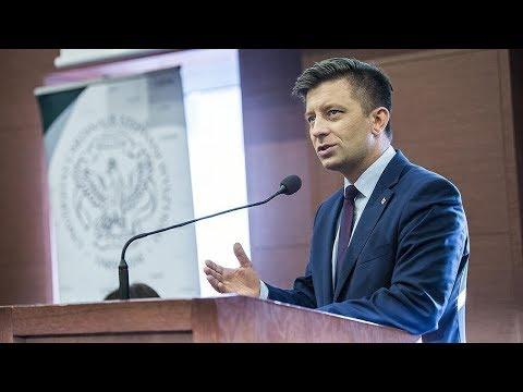 Wiceminister M. Dworczyk na spotkaniu ze studentami UKSW nt. Legii Akademickiej