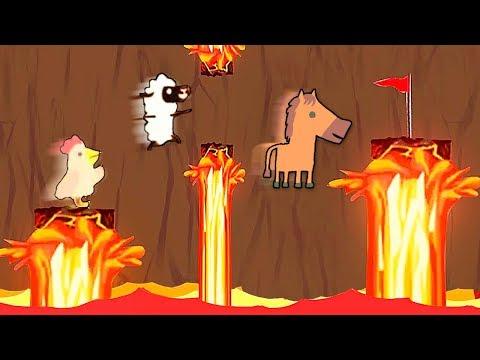 СОСКУЧИЛСЯ!? ПОЛ ЭТО ЛАВА CHALLENGE - СМОТРИ НЕ ОБОЖГИСЬ СЮКА В ULTIMATE CHICKEN HORSE