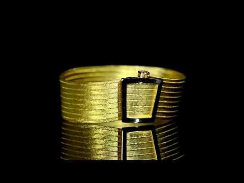 Fine 22k Yellow Gold Wire Woven Bracelet