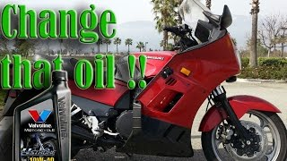 4. How to change motorcycle engine oil kawasaki concours zg1000